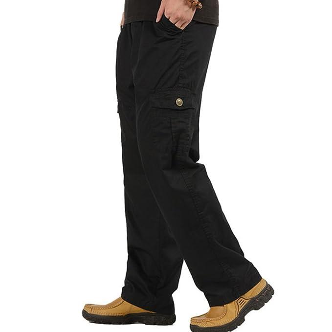 Amazon.com: Deofean pantalones casuales con múltiples ...
