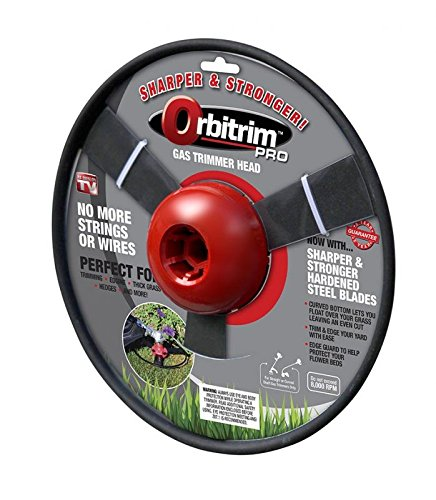 Orbitrim Stronger (Steel Blades) Pro No More Strings or Wires Gas Trimmer Head-Sharper and - String Trimmer Duty Heavy