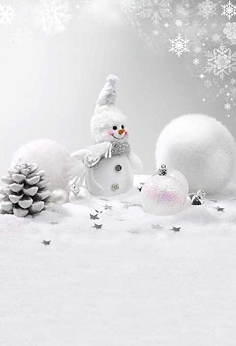 White Christmas Snow Background.Amazon Com 5x7ft Winter White Christmas Snowman Pictorial