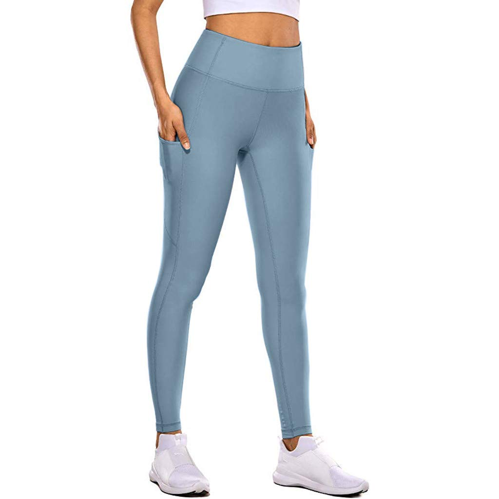 Lanskirt Pantalones Mujer Yoga Leggings Cintura Alta Y Ajustados Deporte Pantalon Yoga Bolsillo Ocultos Desnudos Pantalones Pantalones Y Pantalones Cortos