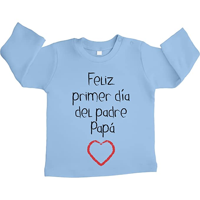 539c25212 Shirtgeil Regalo - Feliz Primer día del Padre Papá Camiseta bebé Unisex Manga  Larga 18-24 Meses Celeste  Amazon.es  Ropa y accesorios