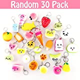 Toys : 30 Pack Squishies Slow Rising Awesome Squishy Toy Silly Kawaii in Shapes of Food Cake Strawberry Peach Various Sizes No Scent_Random Selected 30 PCs