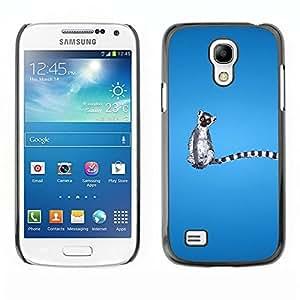 Be Good Phone Accessory // Dura Cáscara cubierta Protectora Caso Carcasa Funda de Protección para Samsung Galaxy S4 Mini i9190 MINI VERSION! // Long Tail Grey White Animal Ring Taile