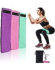 Rantizon Bandas Elásticas Fitness 3 Bandas de Resistencia para Yoga, Crossfit, Entrenamiento de Fuerza, Pilates, Fisioterapia - Bolsa, Entrenamiento y Folleto de Recetas Incluido