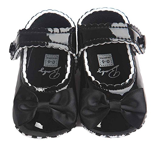 Switchali Baby Girl Bowknot pu Leather Shoes Sneaker Anti slip Soft Sole Toddler Shoes
