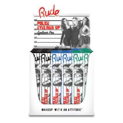 RUDE Police Eyeliner Up Eyeliner Pen Paper Display Set, 36 Pieces (並行輸入品) B0799N482G