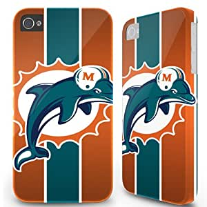 iPhone 4 4S Hard Cover Case - Miami Dolphins Stripe