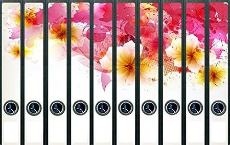 Archivadores diseño de flores en color rosa y naranja ...
