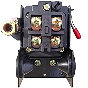 JahyShow Pressure Switch for Air Compressor 90-125 psi Single Port HEAVY DUTY 26A Replaces HUBBELL FURNAS SQUARE D SIEMENS SEARS DEWALT CRAFTSMAN BLACK MAX JENNY BLACK AND DECKER