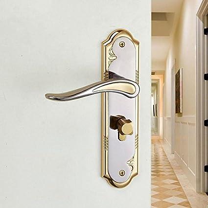 YQQ Aleación de aluminio puerta interior cerradura cerradura cerradura puerta mecánica cerradura de la cerradura bloqueo