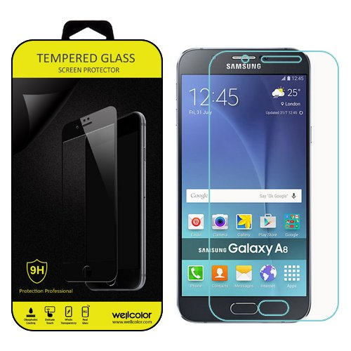 Tempered Glass for Samsung Galaxy A8 (Clear) - 2