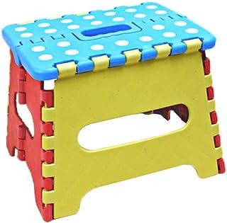 Tritthocker faltbar zusammenklappbarer Klapphocker Klapptritt Hocker klappbar - auch für unterwegs Fußbank und Aufstiegshilfe für Kinder & Erwachsene Kunststoff 23.5x19x18cm