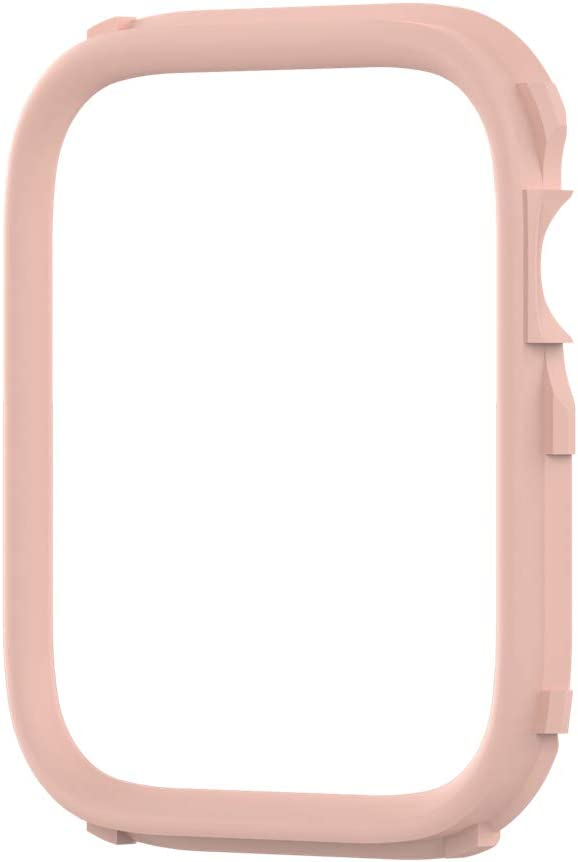 RhinoShield CrashGuard NX Extra Rim [ONLY] Compatible with Apple Watch SE [44mm] & Series 6/5 / 4 [44mm] & Series 3/2 / 1 [42mm] | Additional Accessory for RhinoShield Apple Watch Case- Blush Pink