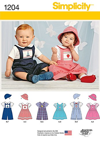 Simplicity Creative Patterns 1204 Babies' Romper or Jumper,