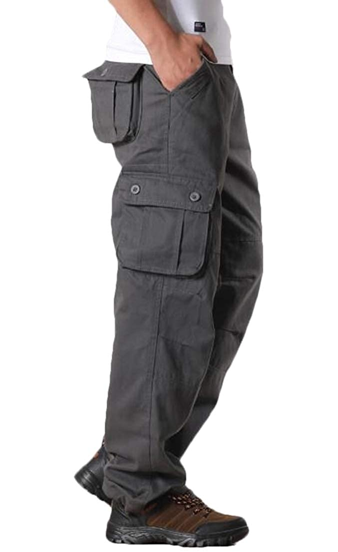 FRPE Men Big /& Tall Open-Bottom Utility Military Multi-Pockets Outdoor Cargo Pants