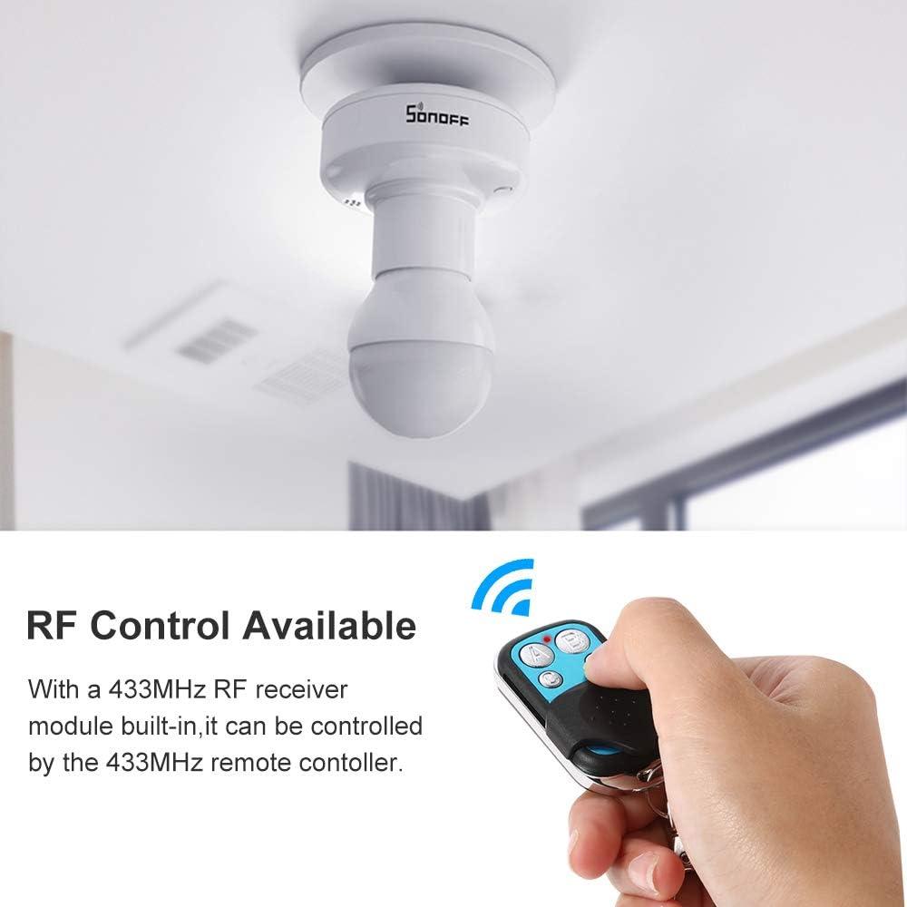 OWSOO SONOFF R2 ITEAD WiFi Support dampoule Intelligent,T/él/écommande sans Fil 433 MHz RF,Contr/ôle APP Commande vocale Compatible avec  Alexa Google Home//Nest,E27