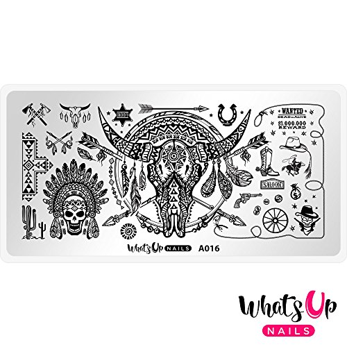 Whats Up Nails – A016 Feelin' Southwestern Stamping Plate For Stamped Nail Art Design