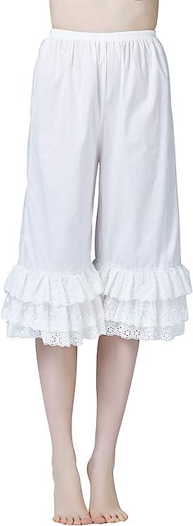 Victorian Lingerie – Underwear, Petticoat, Bloomers, Chemise Women's Cotton Bloomer Renaissance Victorian Pantaloons Costume Pettipants with Lace Edge  AT vintagedancer.com
