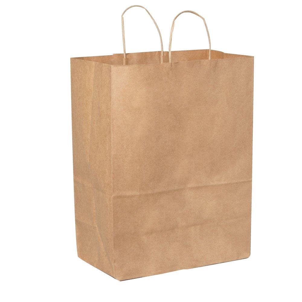 General 87128#65 Paper Shopping Bag, 65 lb Kraft, Heavy-Duty 13 x 7 x 17 (Case of 250 bags)
