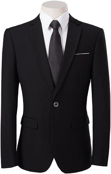 HerZii Herren Moderne Slim Fit 3 teilige Anzug Blazer Jacke