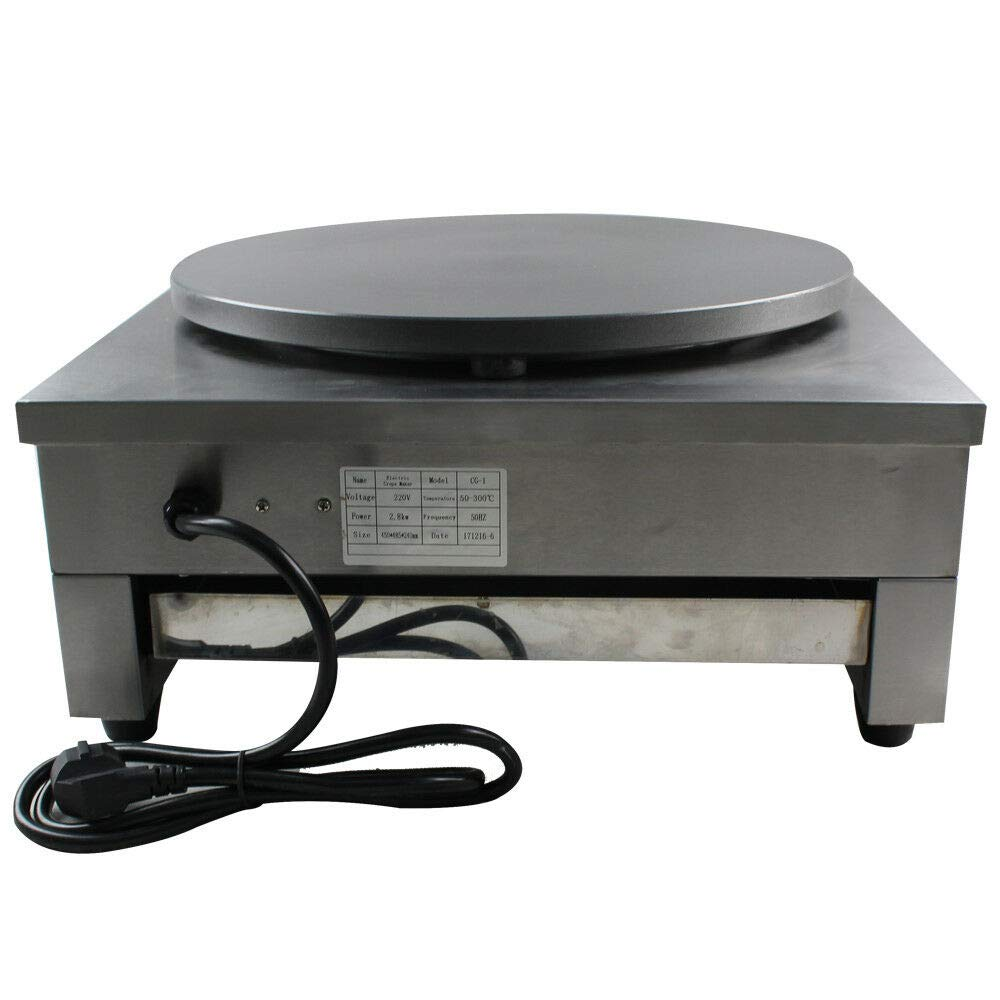 Electric Crepe Maker, 16'' Commercial Electric Crepe Maker Pancake Griddle Machine Single Hotplate Non Stick for Pancakes, Blintzes, Eggs US by BSTOOL (Image #4)