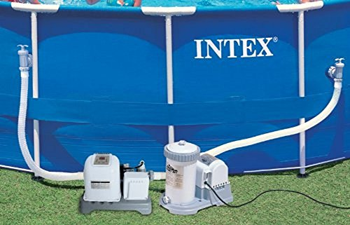 Intex 2500 Gph Filter Pump Amp Krystal Clear Saltwater Pool