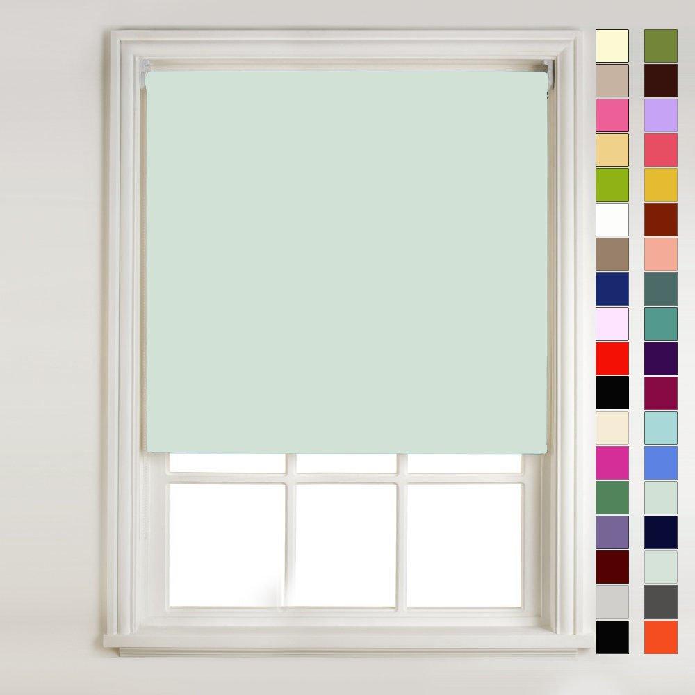 Mint Green Thermal Blackout Roller Blind (width: 2ft (61cm)) Barnes Textiles