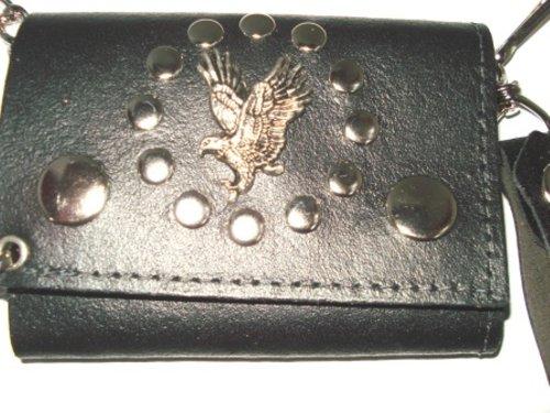 Price comparison product image Biker/ Trucker Leather Eagle Chain Wallet