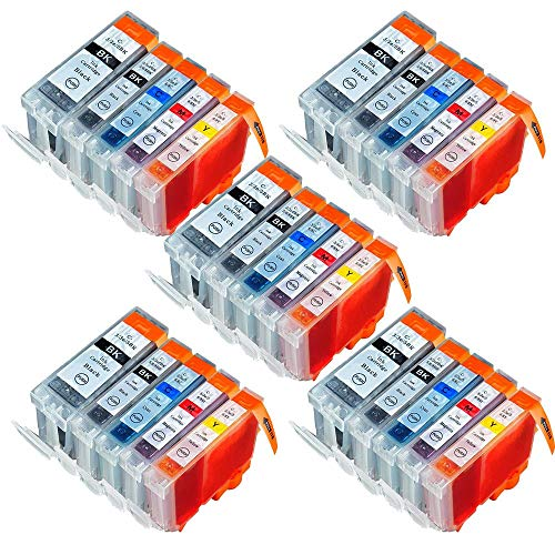Ip4200 Ink Refill - PENK Compatible Ink Cartridge Replacement for Connon PGI-5 PGI5 CLI-8 CLI8 to use with PIXMA IP5200R IP3300 IP3500 IP4200 IP4300 IP4500 IP5200 MP500 MP510 MP520 MP600 MP800 MP830 MP950 MP960(25Pack)