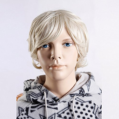 (WG-BC05-24B-613) Child Wig, short hair style. Light Blonde Color. (Saloon Girl Hairstyles)