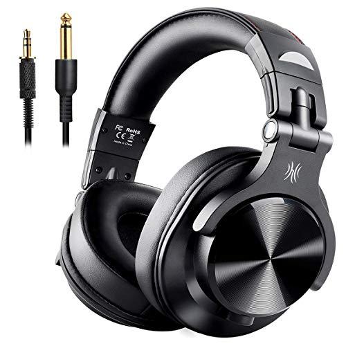 OneAudio DJ헤드폰 모니터 헤드폰 저음 강화 Bluetooth over이어 헤드폰 유선-무선 헤드폰 밀폐형 FuSion A7