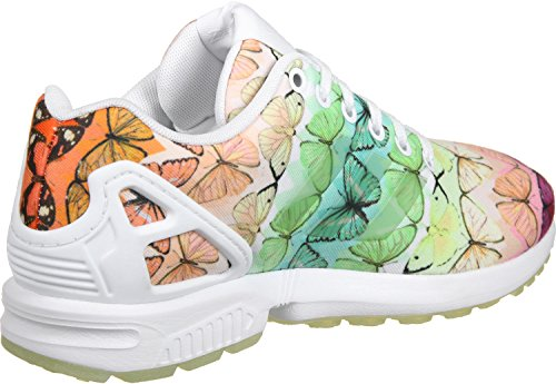 Adidas Damen Zx Flux W Low-top Schoenen Wit / Linnen Groen