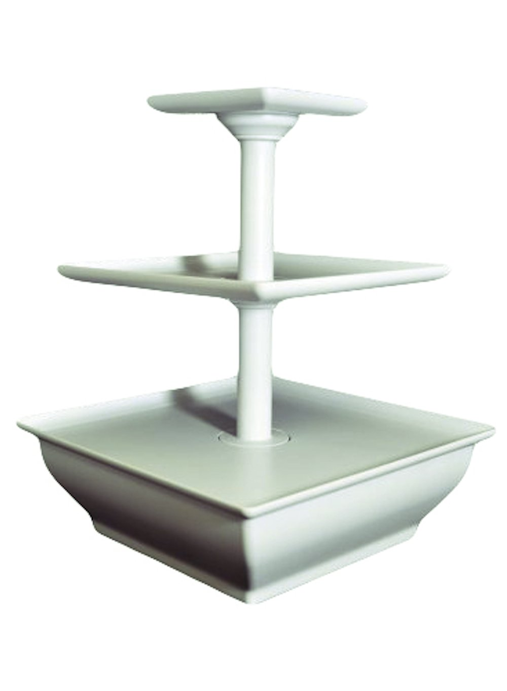 EdgeVantage White Three Tier Server Station - Dessert Tray - Cupcake Stand - Food Display E-093