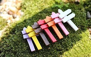 WopenJucy - Adorno en Miniatura para jardín, diseño de casa de muñecas de Madera, Color Amarillo, Mezcla de Materiales, Morado, 5x3cm: Amazon.es: Jardín