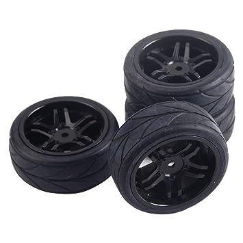 letaosk Fit para Hex 12 mm RC Fuera de Carretera Buggy en ruta 4pcs ruedas negras neumáticos neumáticos: Amazon.es: Bricolaje y herramientas
