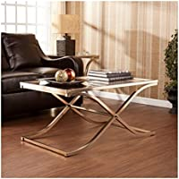 Upton Home Ambrosia Champagne Contemporary Brass Cocktail/ Coffee Table