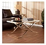 Cheap Upton Home Ambrosia Champagne Contemporary Brass Cocktail/ Coffee Table