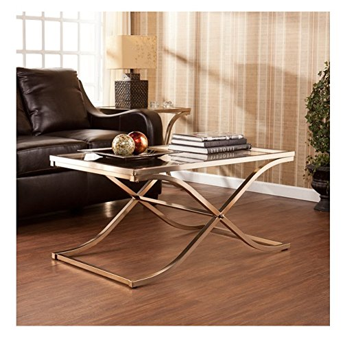 afa40c8157b Upton Home Ambrosia Champagne Contemporary Brass Cocktail  Coffee Table