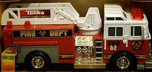 Tonka Rescue Force Lights and Sounds 12-inch Ladder Truck - Fire Dept 82 (Large Tonka Fire Truck)