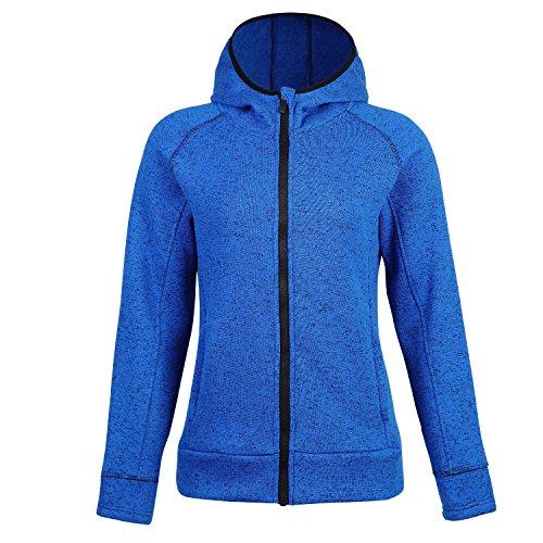 - BELE ROY Women Warm Fleece Winter Jacket Active Outdoor Full-Zip Coat Fleece Lined(Blue-1,L)