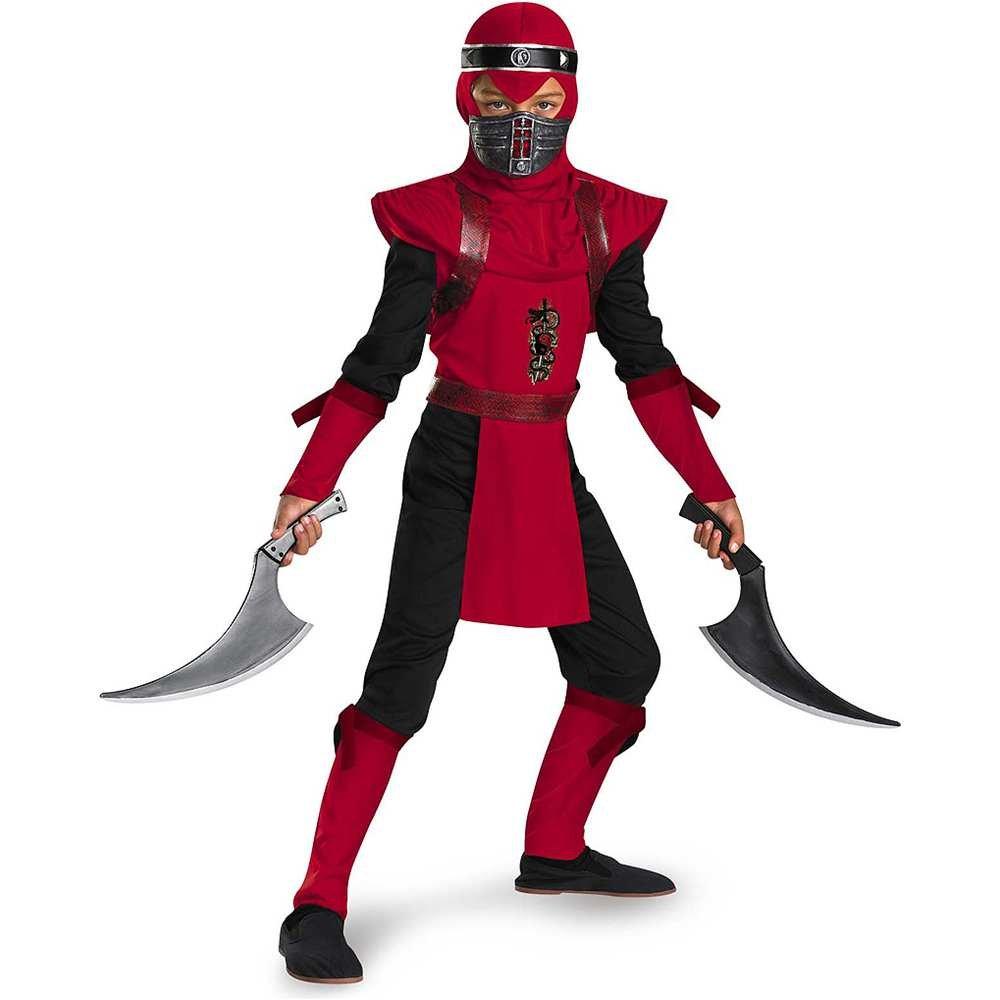 Red Viper Ninja Deluxe Kids Costume - Small