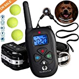 wangstar Dog Training Collar Remote 1450FT Rechargeable Waterproof Shock Collar with Tennis Balls for Dog For Sale