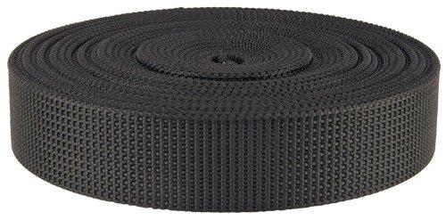 Country Brook Design - 1 1/2 Inch Black Scuba or Duty Belt Webbing, 5 Yards