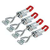 uxcell 4pcs Pull Button Quick-Release Triangle Lever Latch Type Toggle Clamp 220 lbs Capacity 4001
