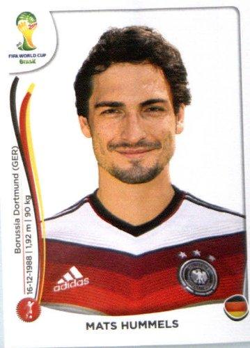 2014 Panini World Cup Soccer Sticker #494 Mats Hummels Mint (Mint Hummel)