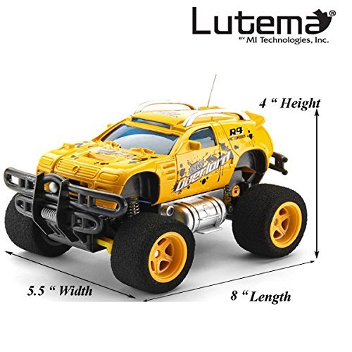 Lutema Tracer Overlord 4CH Remote Control Truck, Yellow (Remote Control Car Lutema)