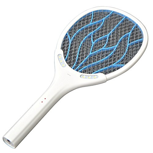[Removable Battery Rechargeable Electric Swatter Pest Control Insect Bug Bat Wasp Zapper Fly Mosquito Killer With LED Lighting For Show Picture] (The Shining Couple Costume)