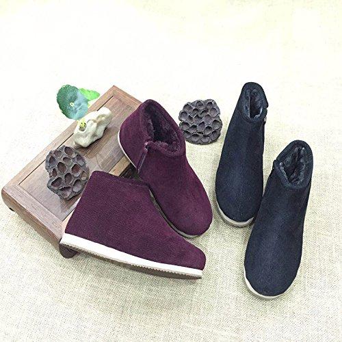chaussures nbsp; Hiver chaud coton un Faits coton homme chaussures de coton de épais velours Femme Chaussure vieil plus coton avec coton de antidérapantes Par Sac Chaussures à 41 Main chaussures chaussons XwxTIZp