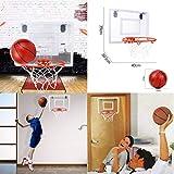 LtrottedJ Mini Basketball Hoop Shatter Resistant Backboard with Breakaway Rim Door Use