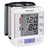 Wrist Blood Pressure Monitor HYLOGY Two Users Mode BP Monitor Automatic Measurement with Large LCD Display and Adjustable Wrist Cuff Monitoring Irregular Heart Rate Portable